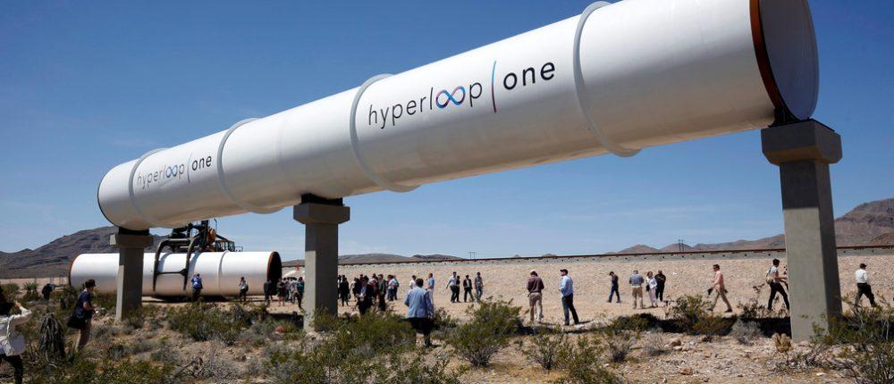 Test tube for hyperloop one transportation in Nevada desert